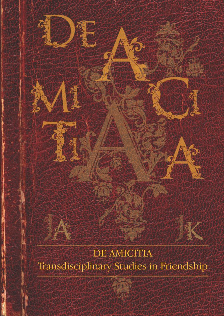 Book Cover: De amicitia. Transdisciplinary Studies on Friendship