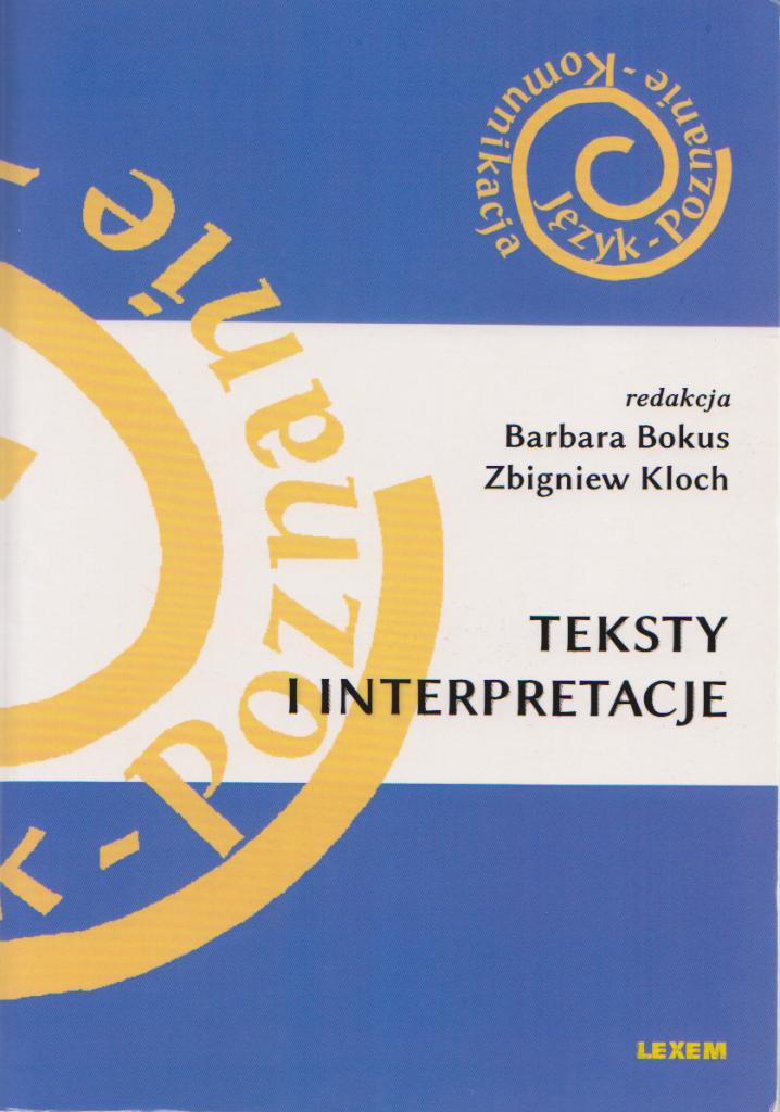 Book Cover: Teksty i interpretacje