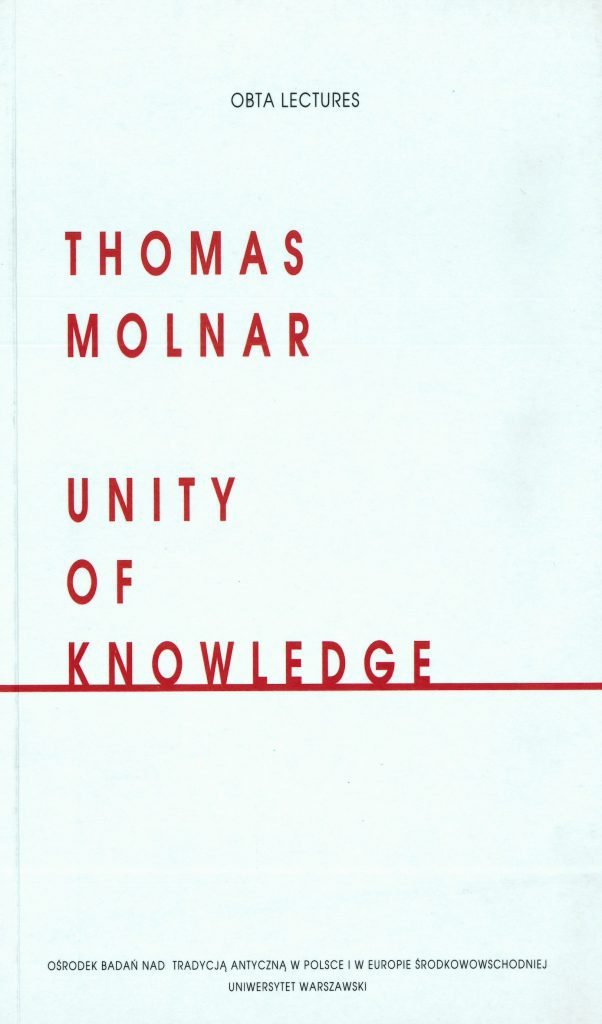Book Cover: Unity of Knowledge
