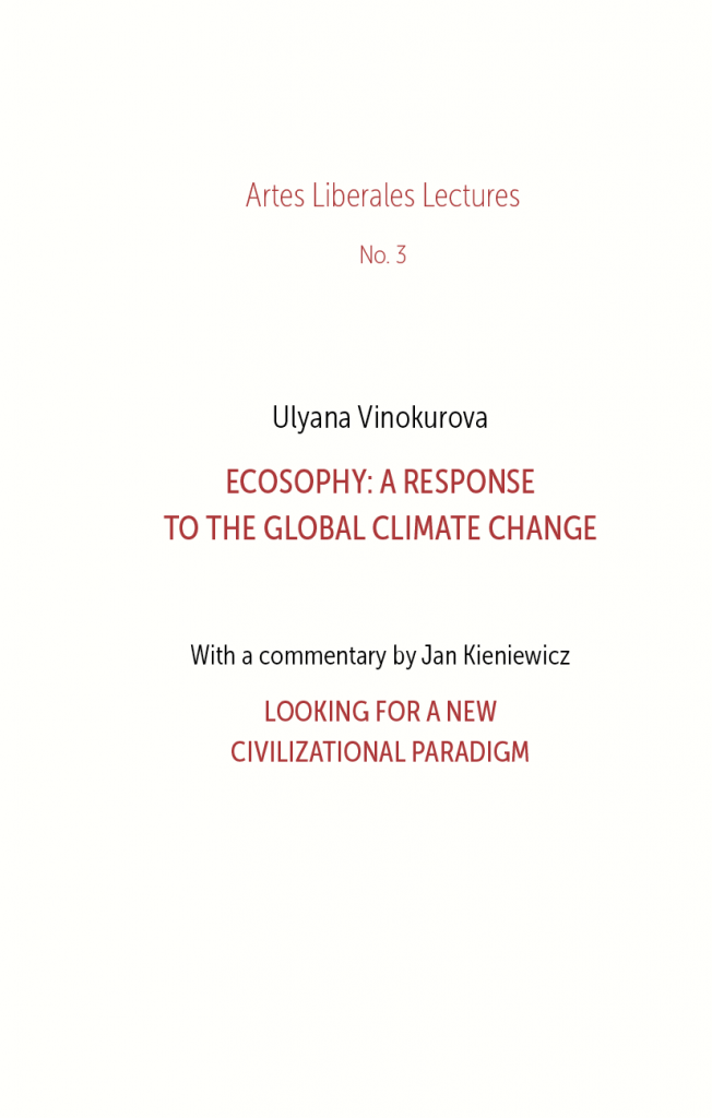 Book Cover: Ecosophy: a response to the global climate change